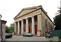 TQ3075 : St Matthew, Brixton - Portico by John Salmon