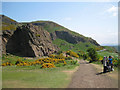 NT2772 : Deciphering the view, Salisbury Craigs, Holyrood Park by Robin Stott