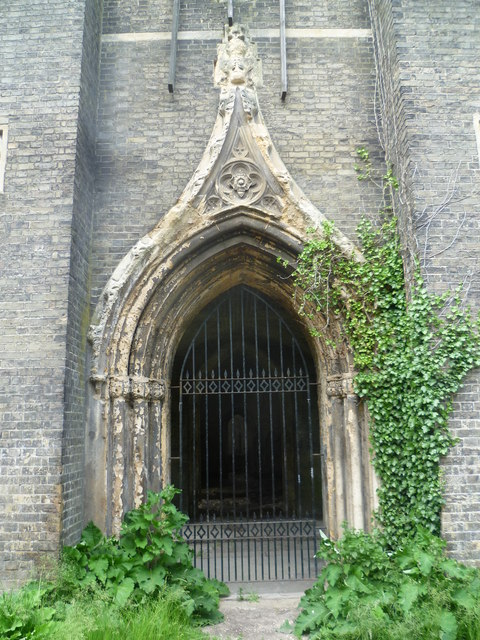 Entrance to the chapel, Abney Park Cemetery