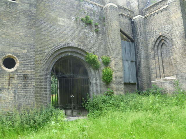 Detail of the chapel in Abney Park Cemetery