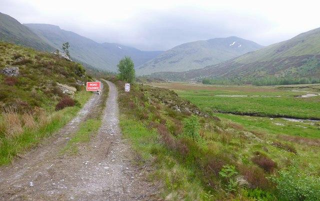 Road closed, Gleann na Cìche