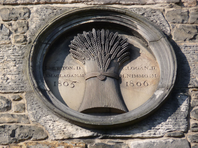 Carved stone on West Mill, Dean Village