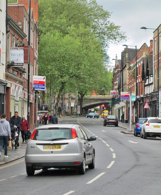 The city end of Friar Gate