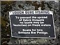 H0875 : Notice, Lough Derg by Kenneth  Allen