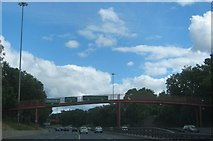 NZ4819 : Footbridge over the A66 in Middlesbrough by peter robinson