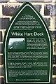 TQ3078 : White Hart Dock: plaque by Hugh Craddock