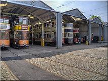SK3454 : Tram Depot, Crich Tramway Village by David Dixon