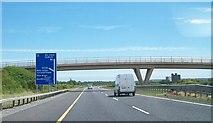 O1567 : Farm bridge across the M1 just north of Junction 7 by Eric Jones