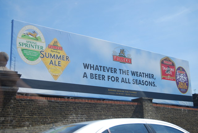 Fullers advert by the A4