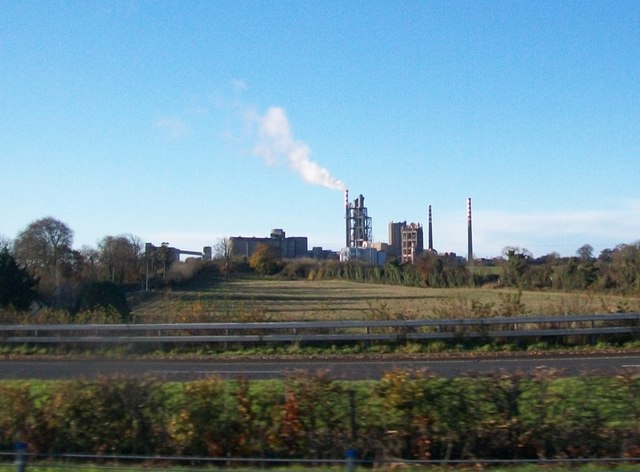 Platin Cement Works, Drogheda, from the M1