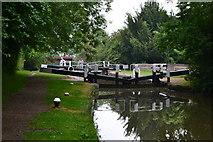 SP6165 : Grand Union Canal, Lock No. 9 near Long Buckby Wharf by David Martin