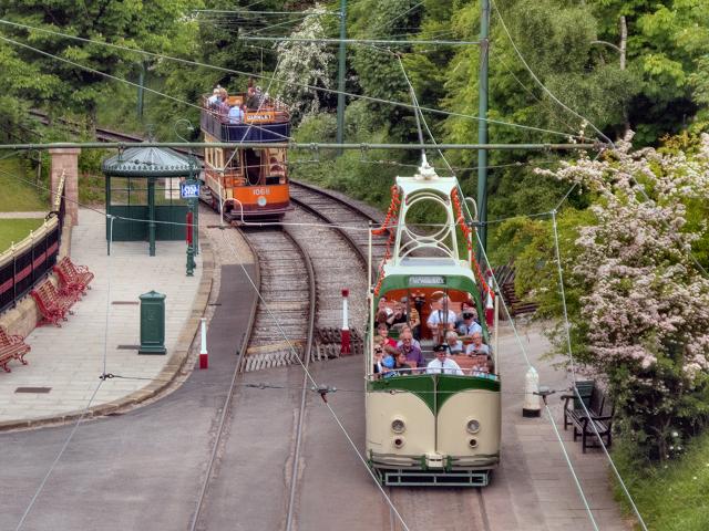 Trams Leaving Victoria Park