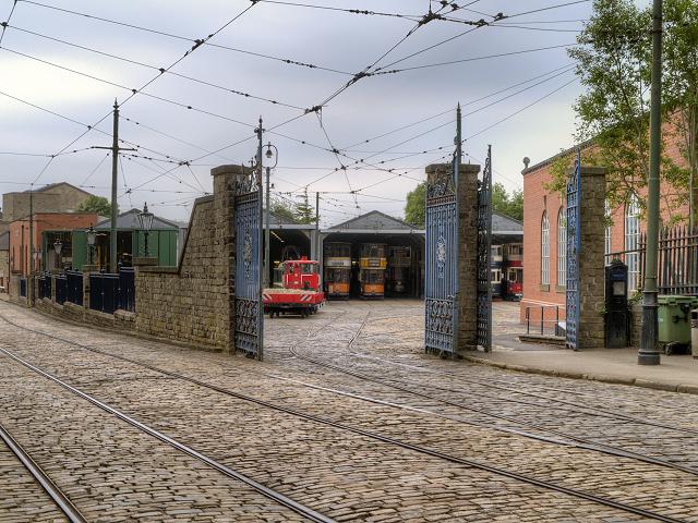Tram Depot Gates, Crich Tramway Village