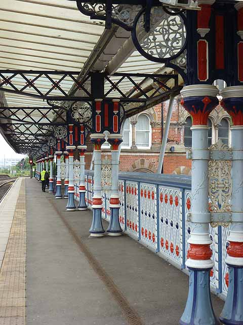Colonnade on Middlesbrough Station