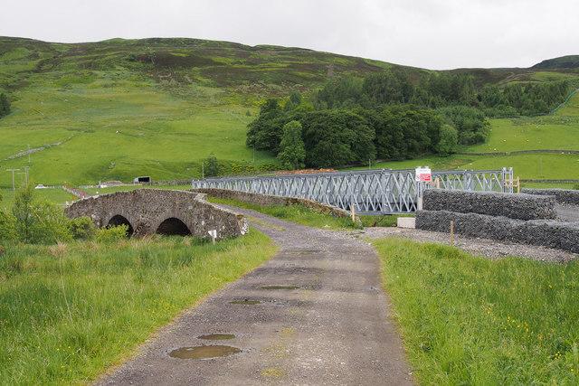 New bridge over River Quaich