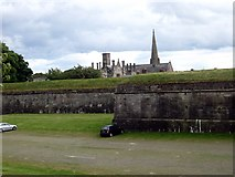 NT9953 : A section of Berwick town walls by James Denham
