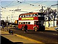 SU6874 : Reading trolleybus at Norcot Road - Oxford Road junction by Richard Green
