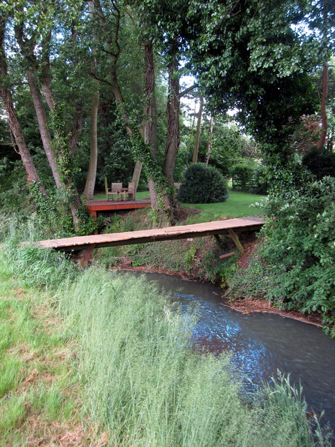 River Flit and domestic viewing platform