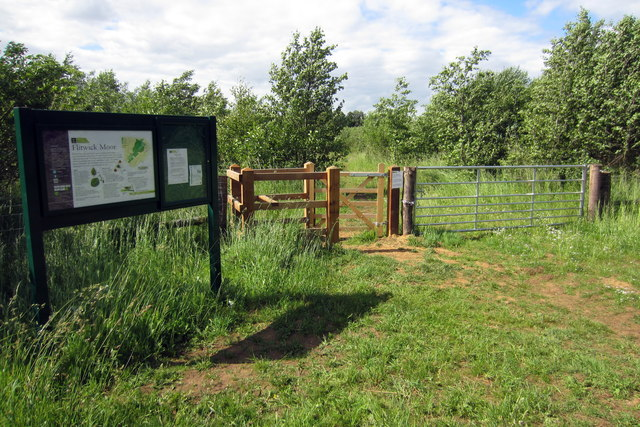 Footpath into the Flitwick Moor SSSI
