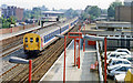 TQ3572 : Forest Hill station with train, 1991 by Ben Brooksbank