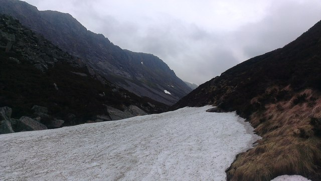 Mini Glacier in the Lairig Ghru