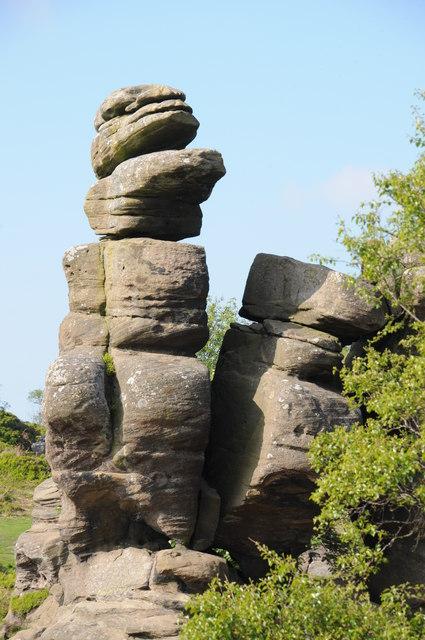 Rock outcrops, Brimham Rocks