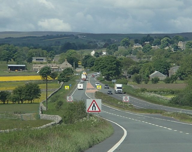 A66 towards Bowes and the Pennines