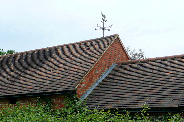 Roof and weather vane at Shiplake Row