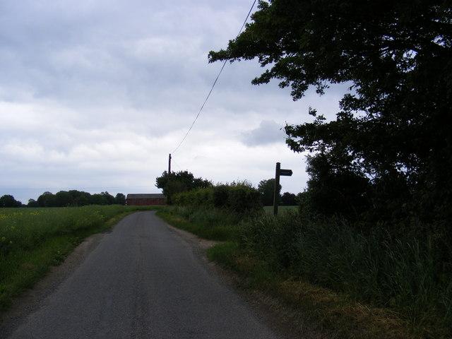 Mary's Lane & footpath