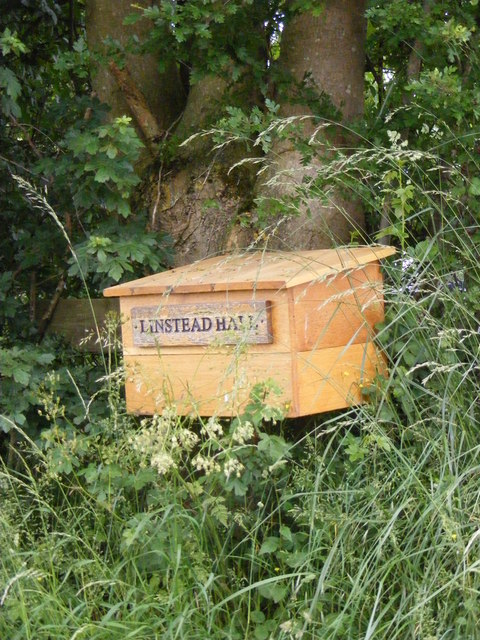 Linstead Hall Letterbox & sign