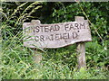 TM3075 : Linstead Farm sign by Adrian Cable