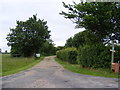 TM3076 : Footpath & entrance to Town Farm by Adrian Cable
