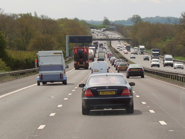 Southbound M6, Staffordshire