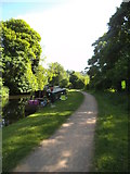 SO8483 : Shady Towpath by Gordon Griffiths