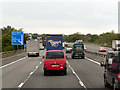 SJ8924 : Northbound M6 Approaching Junction 14 by David Dixon