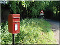 TQ8556 : Post Box and Road Sign, Hollingbourne Hill by Danny P Robinson