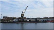 NZ4057 : Loading, Sunderland Harbour by Richard Webb