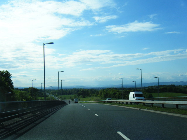 A727 South Road looking towards Glasgow