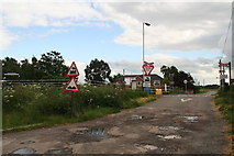 TA0623 : Unguarded level crossing at Barrow Haven by Chris