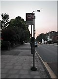 TQ2784 : Upper Park Road bus stop, Haverstock Hill NW3 by Robin Sones