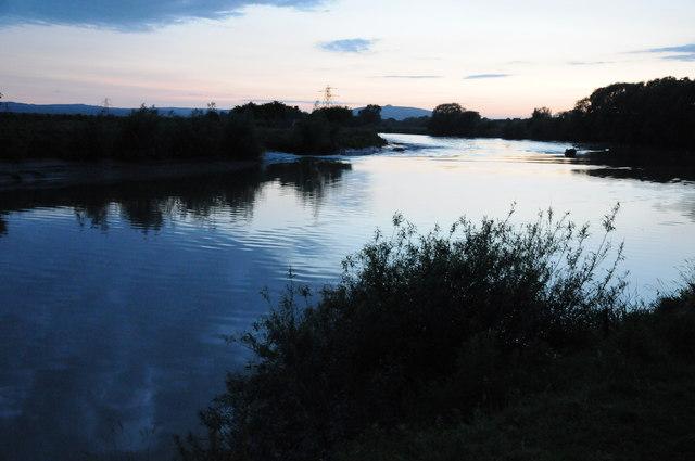 Mid-summer twilight Severn Bore