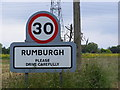 TM3480 : Rumburgh sign by Adrian Cable