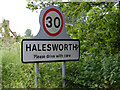 TM3878 : Halesworth sign on Wissett Road by Adrian Cable