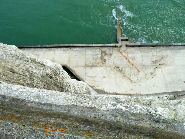 Down the cliff, Peacehaven Heights by Robin Webster