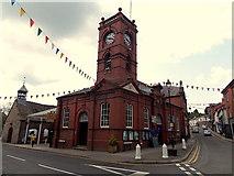 SO2956 : Market Hall and clock tower, Kington by Jaggery