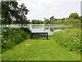 TQ4845 : Seat by Hever Lake by Paul Gillett