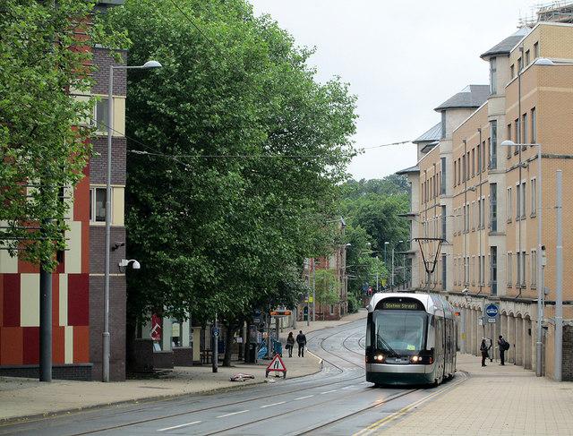 Goldsmith Street: Trent University tram stop