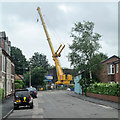SK5839 : Trent Lane and a crane by John Sutton