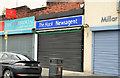 J3773 : Closed newsagent's shop, Ballyhackamore, Belfast by Albert Bridge