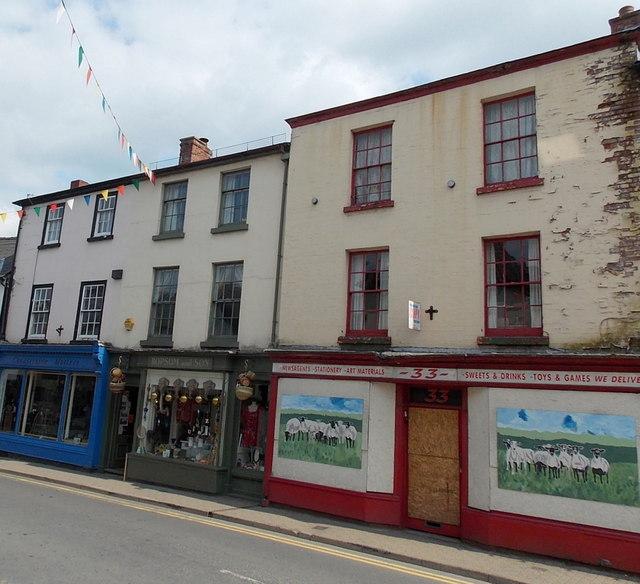 Artwork brightens up a derelict shop, Kington